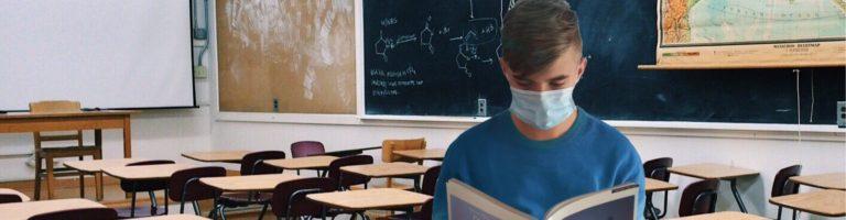 bannière école masque
