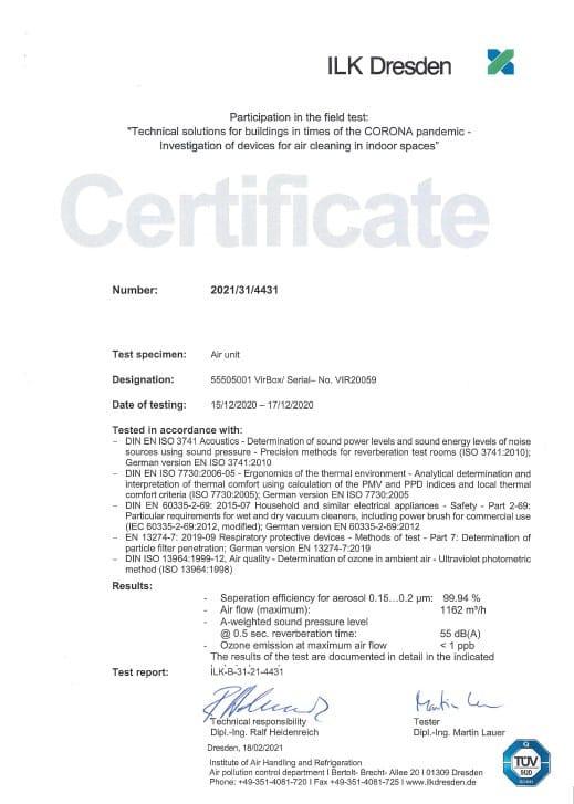 certificat EN Virus